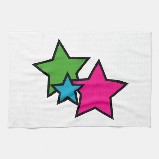 Neon Stars Towel