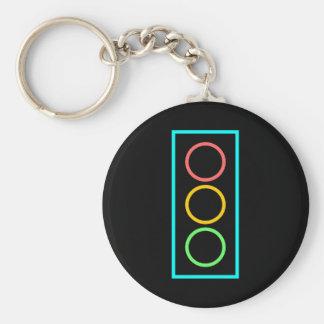 Neon Stoplight Key Chains