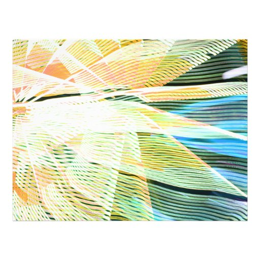 neon streaks yellow blue midway carnival abstract flyers