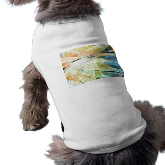 neon streaks yellow blue midway carnival abstract pet t shirt