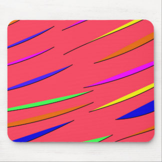Neon Striped Mouse Pad