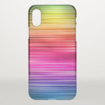 Neon Striped Pattern iPhone X Case