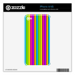 Neon Stripes iPhone Skins For iPhone 4