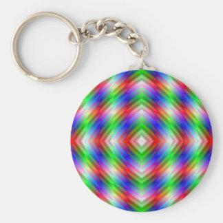 Neon Stripes  Key Chain