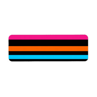 Neon stripes label