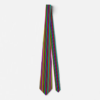 Neon Stripes Neck Tie