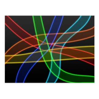 Neon Stripes Postcard