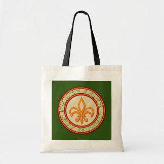 Neon Style Fleur de Lis Peace Love Gumbo Canvas Bags
