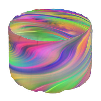 Neón suave de las ondas coloreado + sus ideas puf redondo