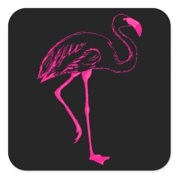 galxc_designs Neon Summer Flamingo Stickers
