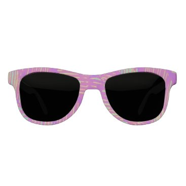 Beach Themed Neon Summer Purple Palm Sunglasses