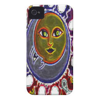 Neon Sun Moon iPhone 4 Case-Mate Case