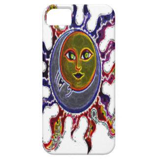 Neon Sun Moon iPhone SE/5/5s Case