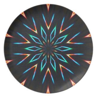 Neon Sun Plate
