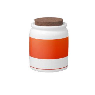 Neon Sunrise Candy Jar