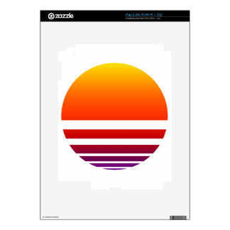 Neon Sunrise iPad 2 Decal