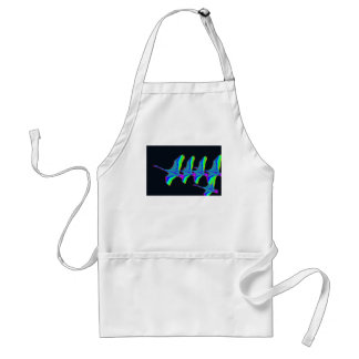 Neon Swans Fly The Night Sky Adult Apron