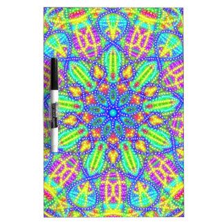 Neon Swirl Dry-Erase Whiteboard