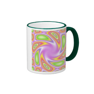 Neon Swirl Ringer Mug