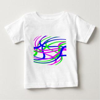 Neon Swirled Stripes #2 Baby T-Shirt