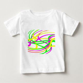 Neon Swirled Stripes #6 Baby T-Shirt