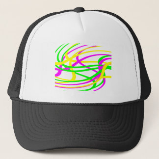 Neon Swirled Stripes #6 Trucker Hat