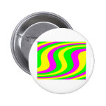 Neon Swirled Stripes Pinback Buttons