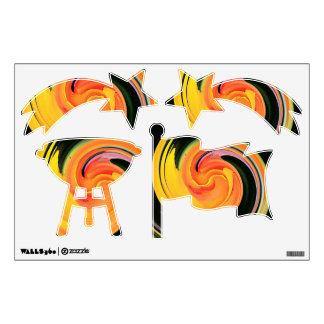 Neon Swirls 4th of July Wall Sticker