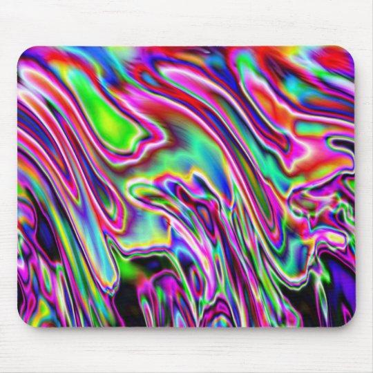 Neon Swirls Mouse Pad