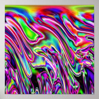 Neon Swirls Poster