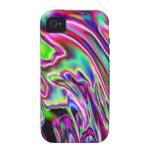 Neon Swirls Vibe iPhone 4 Cover