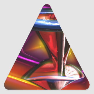 Neon Table Triangle Sticker