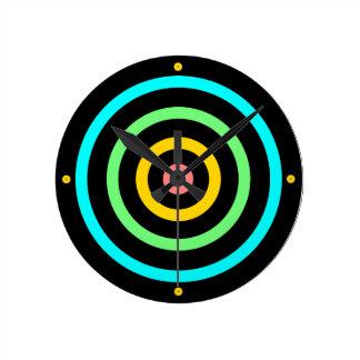 Neon Target Round Wallclock