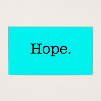 Neon Teal Blue Hope Quote Inspirational Template Business Card