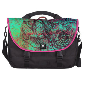 Neon Tendrils Abstract Laptop Bags