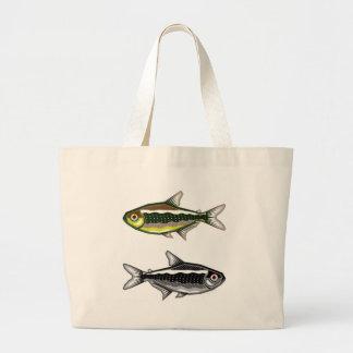Neon Tetra aquarium fish Large Tote Bag