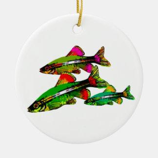 Neon Tetra Triplets Christmas Ornament