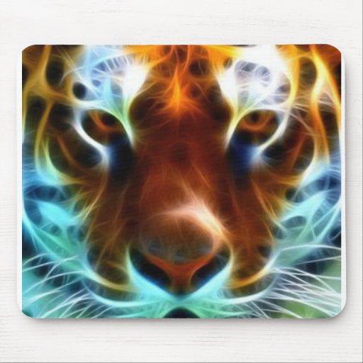 Neon Tiger Mouse Pad Zazzle