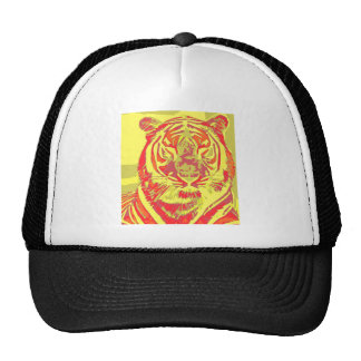 Neon tiger trucker hat