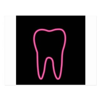 Neon tooth postcard