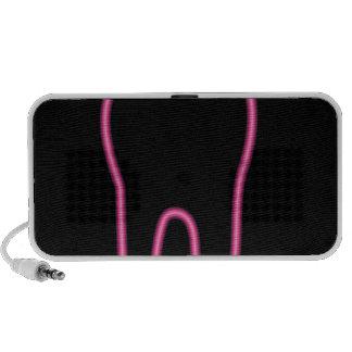 Neon tooth notebook speaker