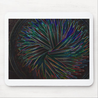 Neon Toothpick Design Mouse Pad