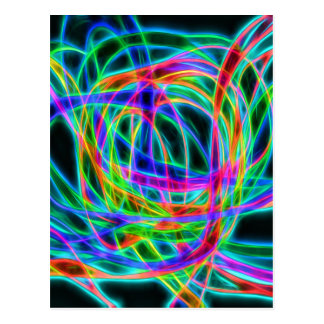 neon traffic postcard