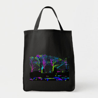 Neon Trees Urban Skyline cool original design Tote Bag