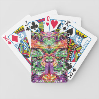 Neon Tribal Graffiti Abstract ArtWork Bicycle Playing Cards