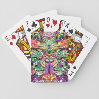 Neon Tribal Graffiti Abstract ArtWork Playing Cards