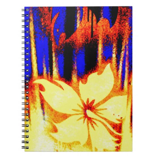Neon Tropical Floral Bright & Colorful Notebook