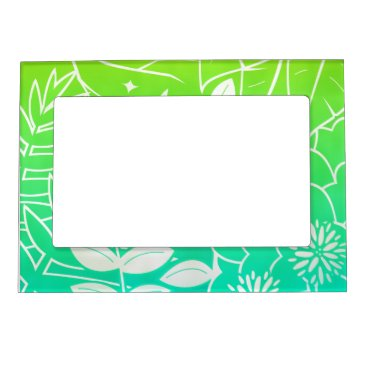 "Beach Themed Neon Tropical Foliage 5""x7"" Magnet Picture Frame"