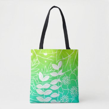 kellygalloway Neon Tropical Foliage All-Over-Print Tote Bag