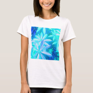 Neon tropical foliage print tee